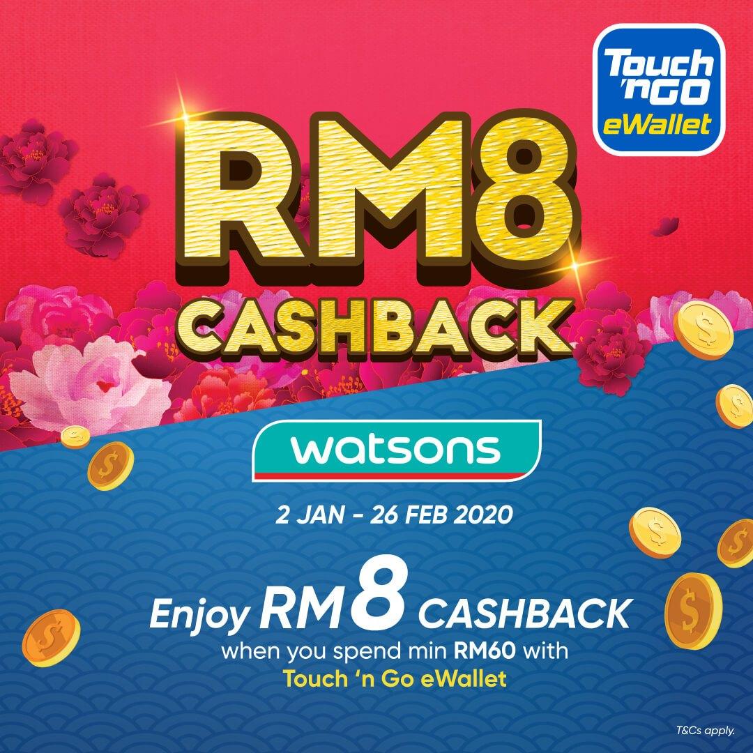 Touch N Go Ewallet Watson Rm8 Cashback Mypromo My