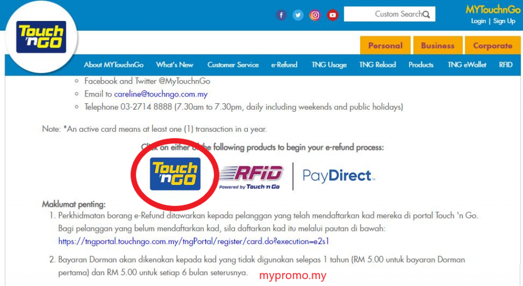 How To Get A Refund For Your Touch N Go Card Step By Step Mypromo My