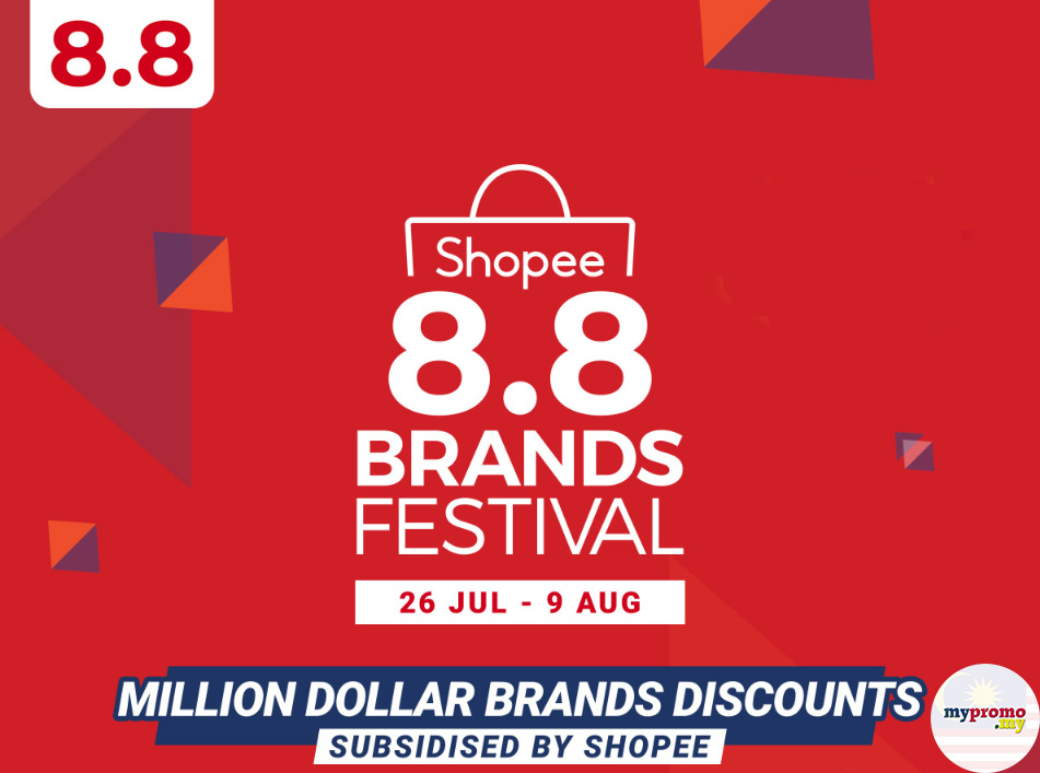 Shopee 8 8 Brands Festival Sale Mypromo My