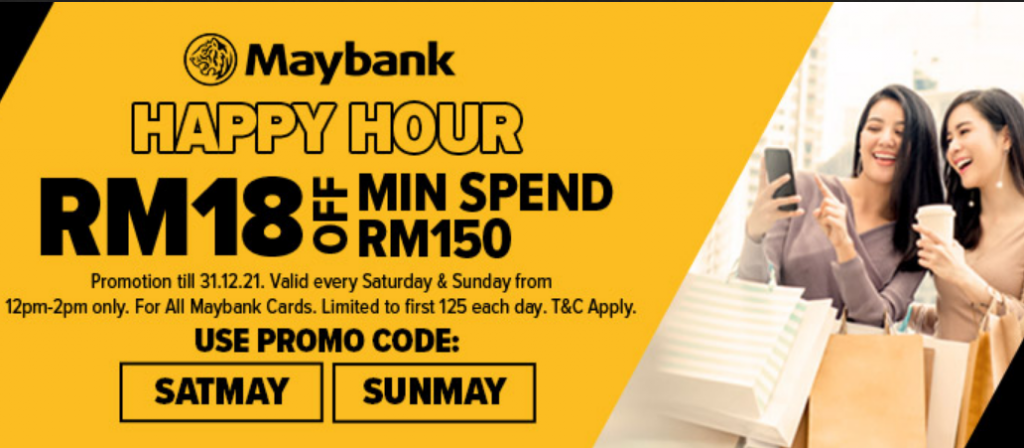 Lazada Maybank Happy Hour