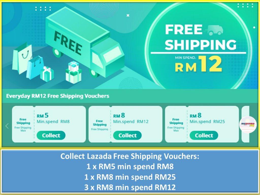 Lazada Free Shipping Vouchers for Raya 2021