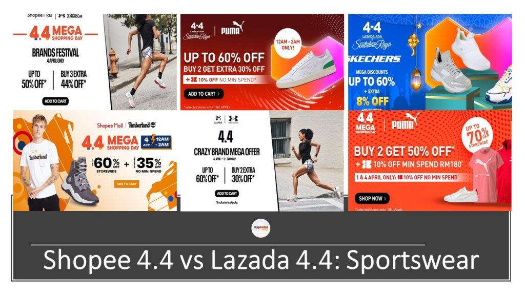 Shopee 4.4 vs Lazada 4.4: Sportswear