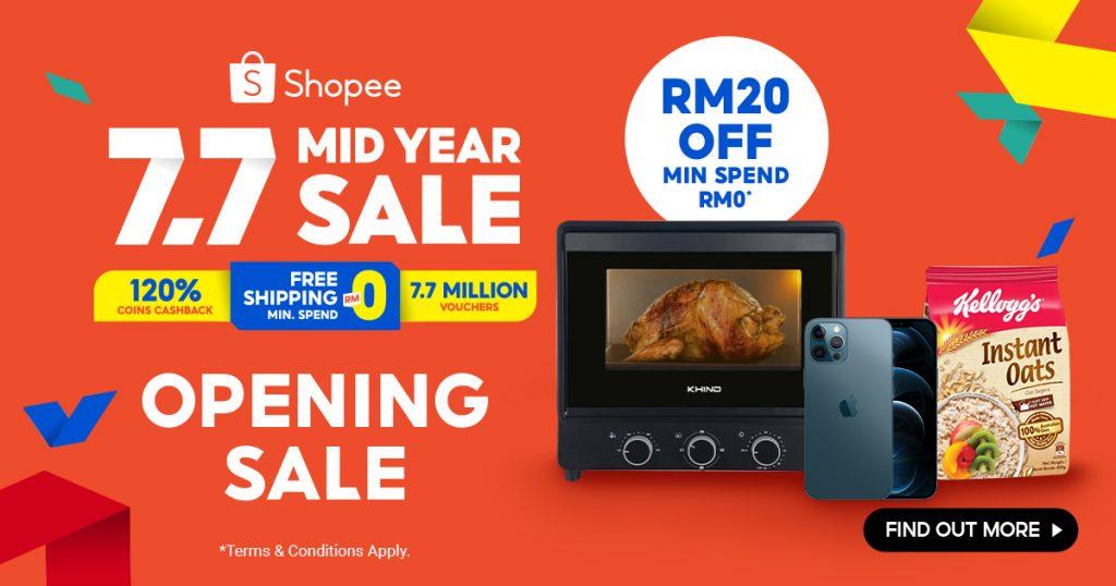 Shopee 7.7 Mid Year Sale 2021