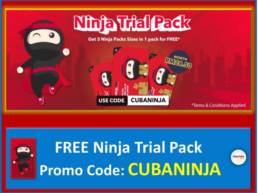 Get FREE Ninja Trial Pack with Code CUBANINJA