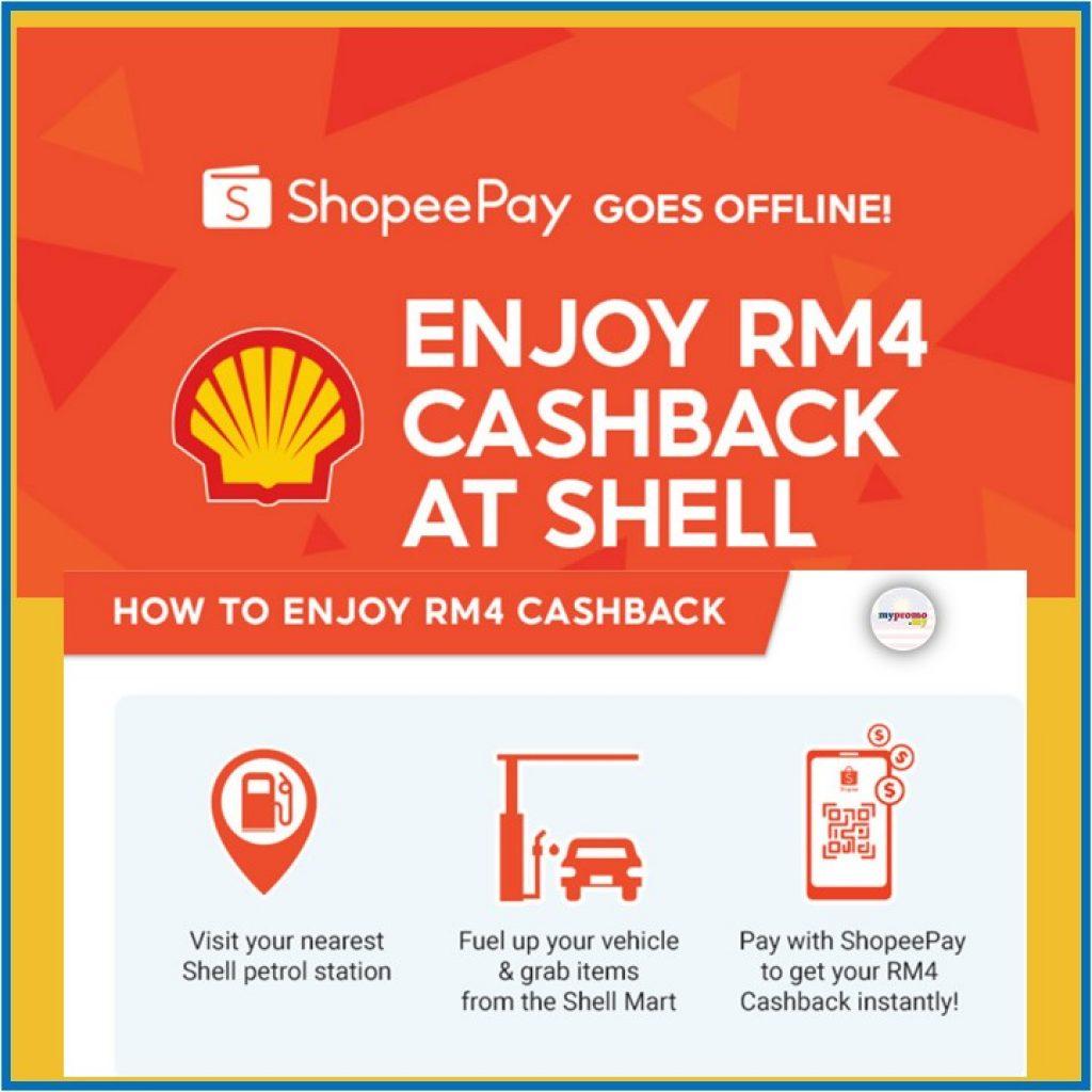 ShopeePay x Shell RM4 Cashback