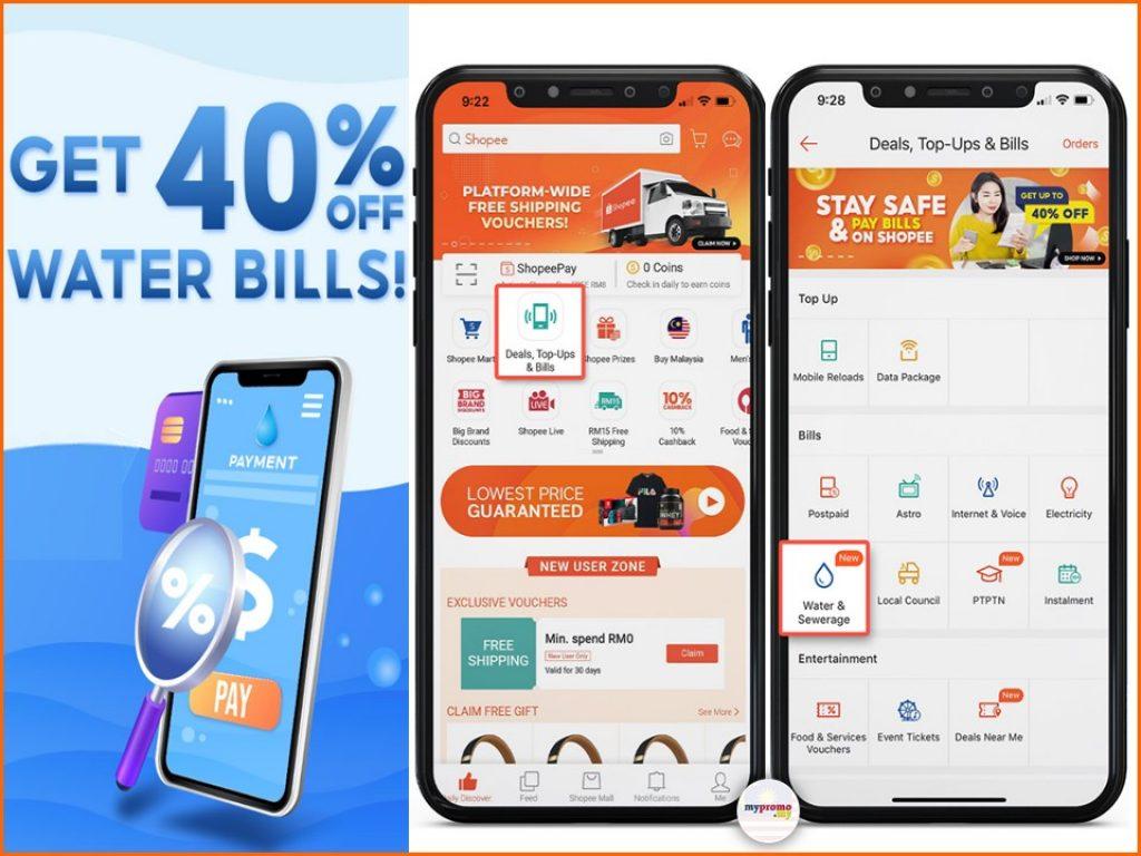 Shopee x Water Bill - Get 40% Off