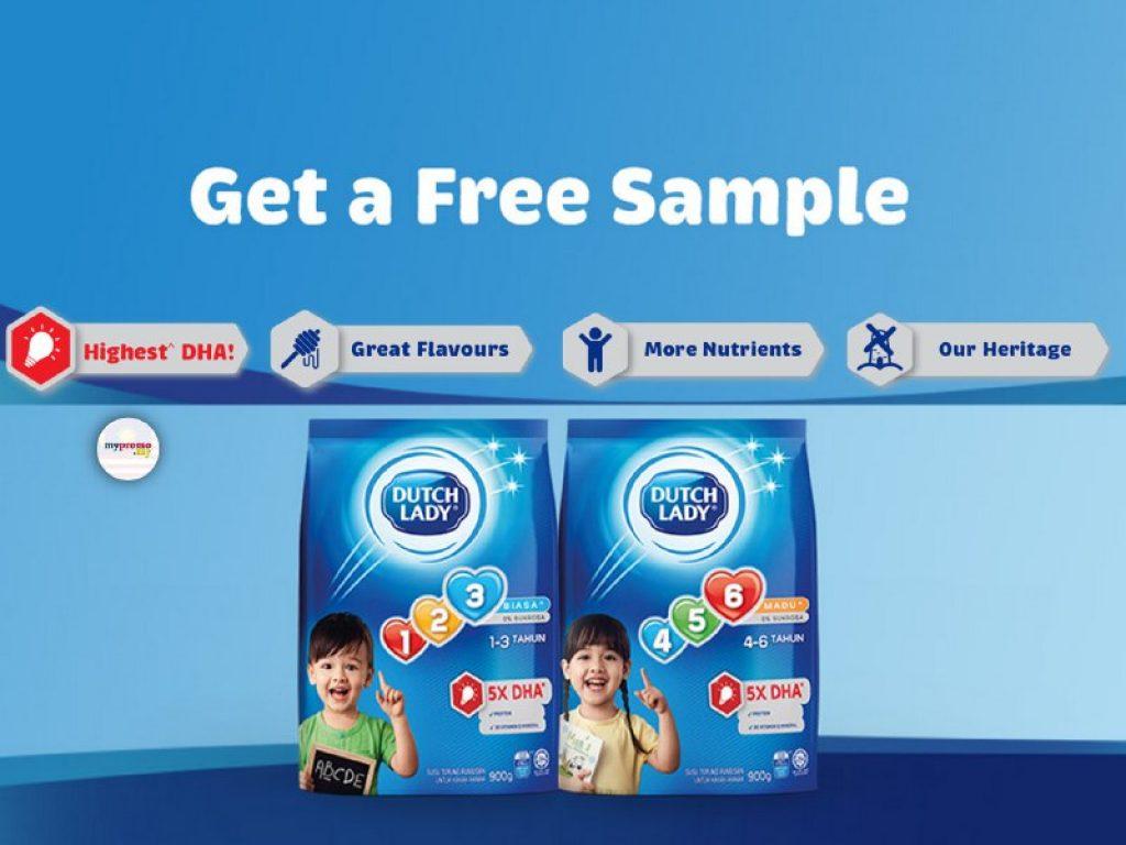 Get FREE Dutch Lady 123 and Dutch Lady 456 Milk Samples