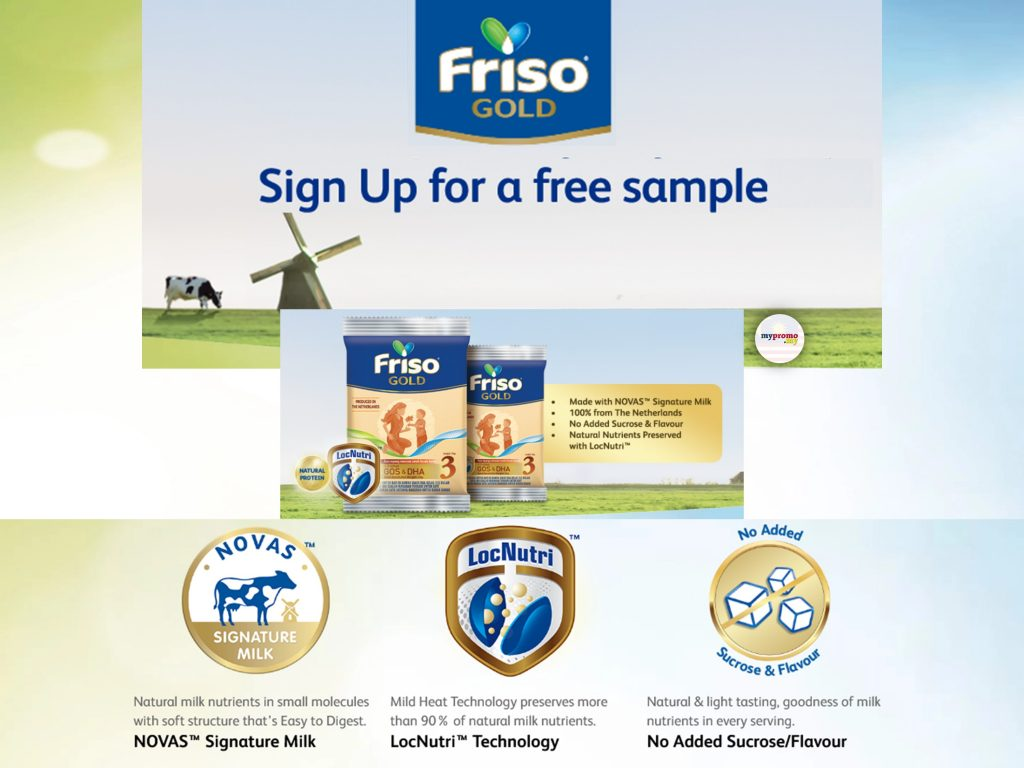 Friso - Sign Up for Free Sample