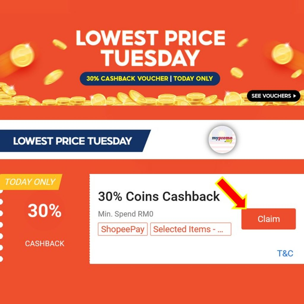 Shopee Lowest Price Tuesday: Enjoy Extra 30% Off Voucher