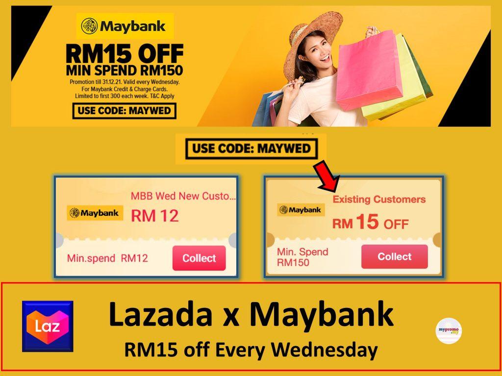 Lazada x Maybank Wednesday Promotion (Every Wednesday)