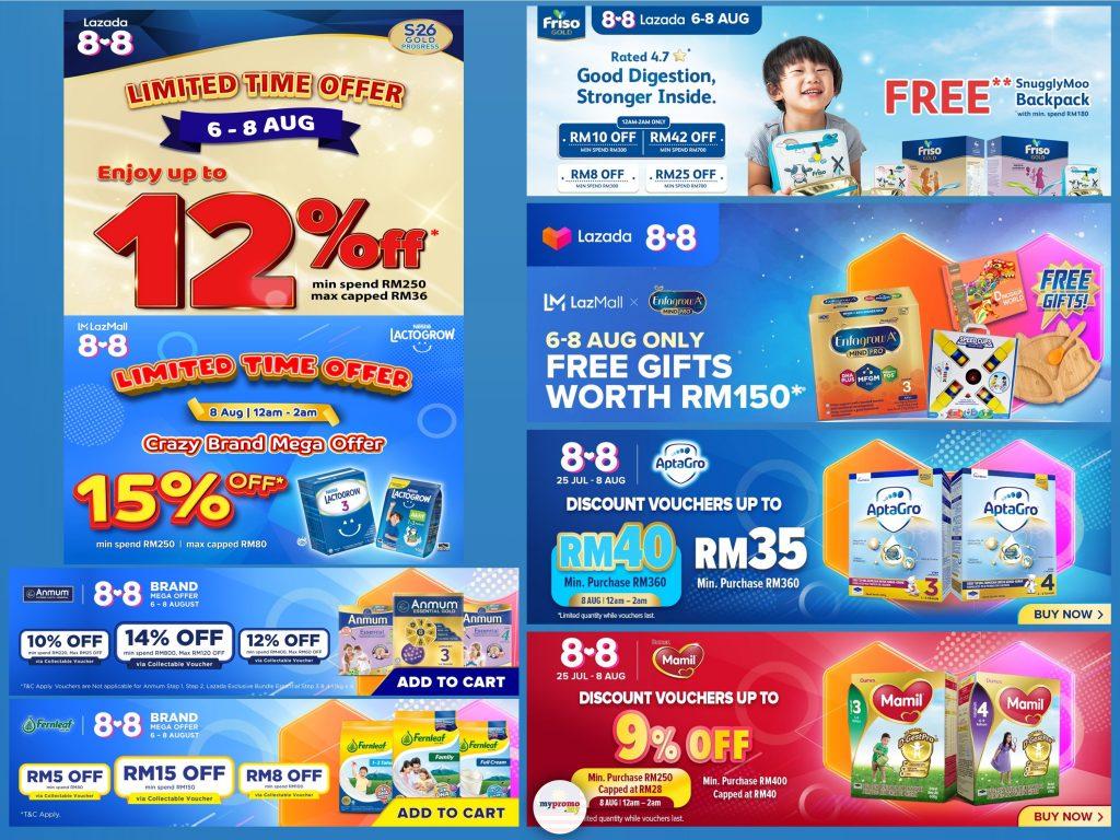 Lazada 8.8 x Milk Powder Promo List