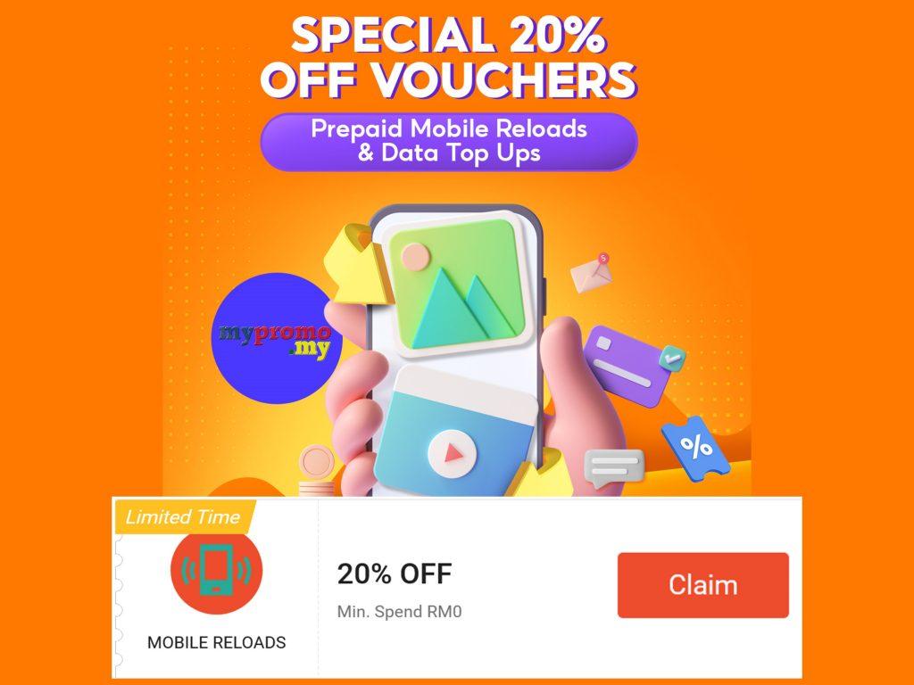 Shopee Reload 20% Off Voucher