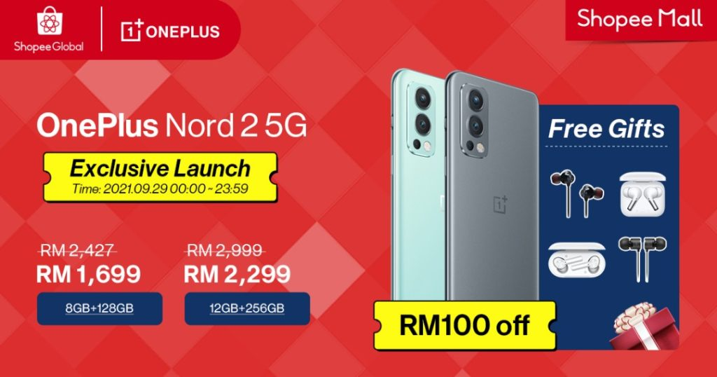 OnePlus Nord 2 5G Smart Phone - Premiere Sale on Shopee!