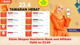 Raya Bersama Shopee Vouchers: Bank and Affiliate for 23.04 Sale