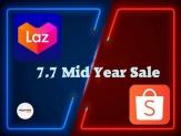 Shopee + Lazada: 7.7 Mid Year Sale