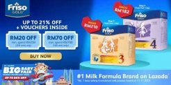 Lazada Big Baby Fair Promo with Friso Gold (Up to 21% Off+Vouchers Inside)