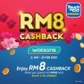 Touch 'n Go eWallet: Watson RM8 Cashback