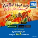 Touch 'n Go eWallet: Festival Rush RM3 Cashback with Extra Excitement