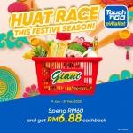 Touch 'n Go eWallet: Giant- Huat Race Cashback