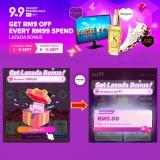 Lazada 9.9 Sale Bonus – Get RM9 every RM99 Spend