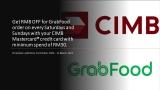CIMB Promo: RM8 OFF GrabFood order