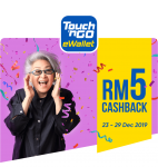 Touch 'n Go eWallet: Redeem Your RM5 Cashback!