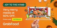 GrabFood: Enjoy 50% OFF feasts at home this December!