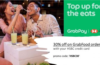 HSBC Promo:  Enjoy 30% OFF GrabFood order