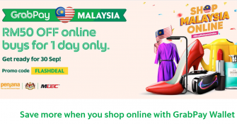 GrabPay: RM50 Off Online Buys For 1 Day Only