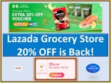Lazada 5.5 Raya Sale x Grocery Store 20% Off Voucher