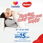 TNG eWallet x Huggies Promotion RM15 off in LAZADA