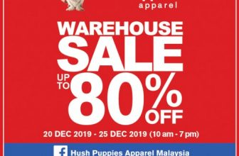 20-25 Dec 2019: Hush Puppies Apparel Warehouse Sale (Extra Savings and Gift For PB Cards)