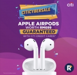 Citi Cyber Sale x RinggitPlus: Get Apple Airpods Worth RM699