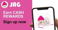 JAG App: Sign Up and Earn Cash Rewards