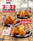 KFC Promo Code: 3FOR33