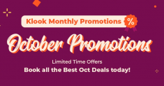 Klook: Enjoy Local Monthly Deals of Up to 65% Off!