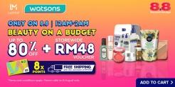 Lazada 8.8 x Watsons: Beauty On A Budget
