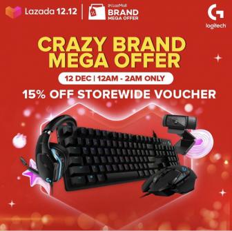 Lazada 12.12 Brand Mega Offer: Logitech