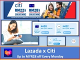 Lazada x Citibank Card Vouchers 2021