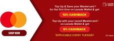 Lazada x Mastercard Tuesdays Wallet Cashback Promo
