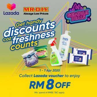 TnGo eWallet x Lazada x Mr DIY Promo: Gempak Deals RM8 Off