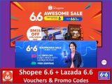 Lazada 6.6 + Shopee 6.6: Vouchers and Promo Code