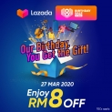 TnGo eWallet Promotion: LAZADA 8th Birthday Sales Promotion