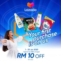 LAZADA: Get RM10 Off with Touch 'n Go eWallet