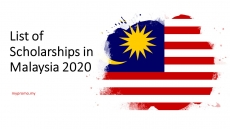 List of Scholarships in Malaysia 2020