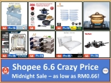 Shopee 6.6 x List of Super Low Price items on 6.6 midnight!