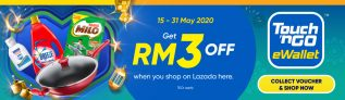 TnGo eWallet: LAZADA Spend RM15 & Get RM3 Off
