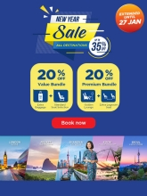 Malaysia Airlines: New Year Sale extended! – Up to 35% off fares