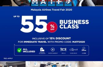The Malaysia Airlines Travel Fair is here! Up to 55% off.