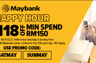 LAZADA x Maybank: Weekend Happy Hours Promotion 2021